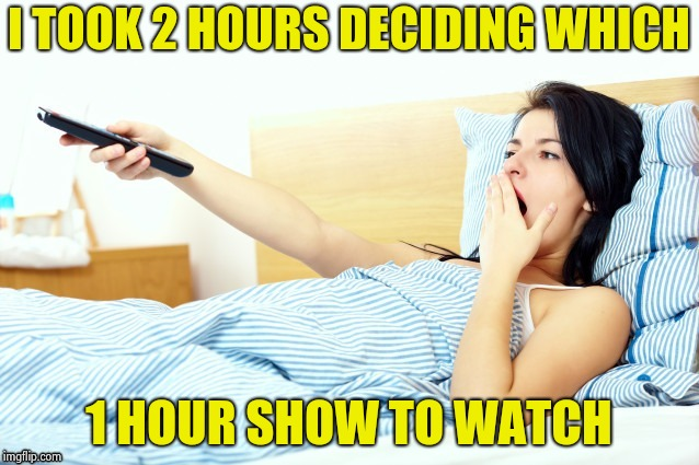Boooriiing | I TOOK 2 HOURS DECIDING WHICH 1 HOUR SHOW TO WATCH | image tagged in boooriiing | made w/ Imgflip meme maker