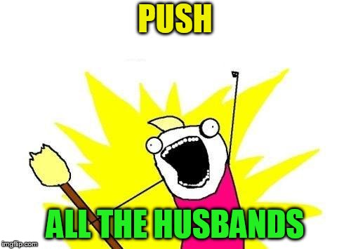 X All The Y Meme | PUSH ALL THE HUSBANDS | image tagged in memes,x all the y | made w/ Imgflip meme maker