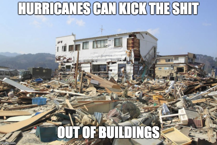 HURRICANES CAN KICK THE SHIT OUT OF BUILDINGS | image tagged in hurricane | made w/ Imgflip meme maker