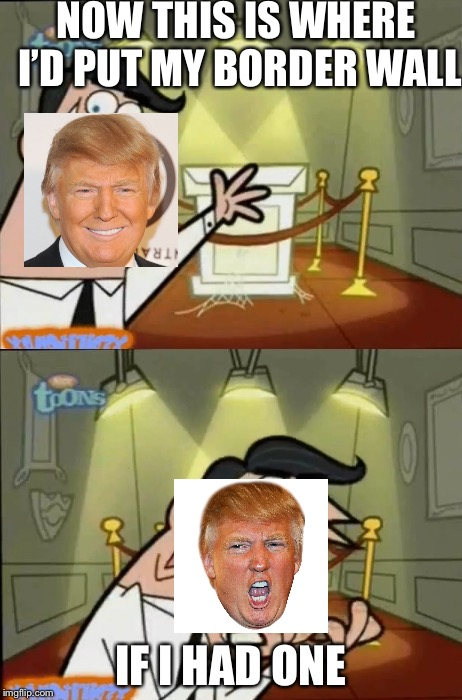 The Fairly OddParents | NOW THIS IS WHERE I'D PUT MY BORDER WALL IF I HAD ONE | image tagged in the fairly oddparents | made w/ Imgflip meme maker