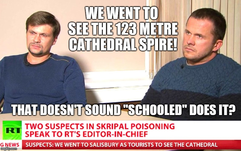 "I'm not reading from a brief! | WE WENT TO SEE THE 123 METRE CATHEDRAL SPIRE! THAT DOESN'T SOUND ""SCHOOLED"" DOES IT? 