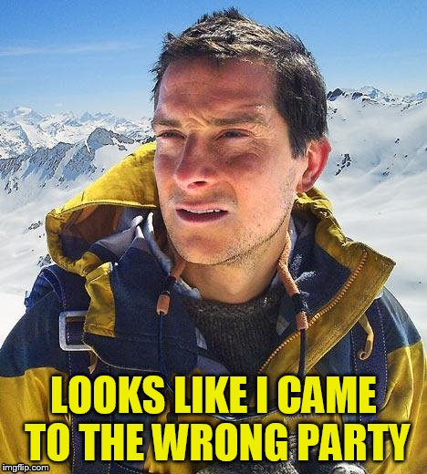 LOOKS LIKE I CAME TO THE WRONG PARTY | made w/ Imgflip meme maker