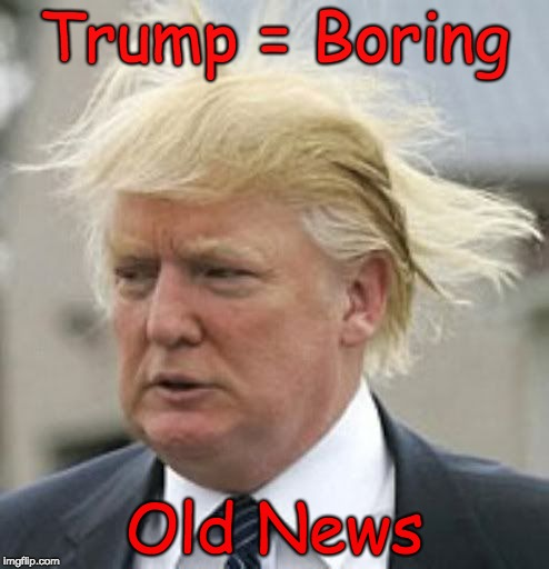 Donald Trump 1 | Trump = Boring Old News | image tagged in trump boring,trump old news,liar,trump unfit unqualified dangerous,forgetful old man,unhinged old man | made w/ Imgflip meme maker