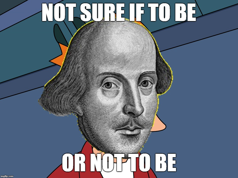 Futurama Fry or Futurama Not Fry | NOT SURE IF TO BE OR NOT TO BE | image tagged in futurama fry,shakespeare,hamlet,to be or not to be | made w/ Imgflip meme maker