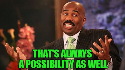 Steve Harvey Meme | THAT'S ALWAYS A POSSIBILITY AS WELL | image tagged in memes,steve harvey | made w/ Imgflip meme maker