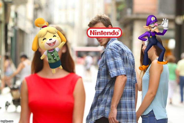 This gets old, man.... | image tagged in memes,distracted boyfriend,waluigi,super smash bros,ultimate,nintendo | made w/ Imgflip meme maker