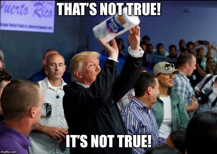 Donald Trump Paper Towel | THAT'S NOT TRUE! IT'S NOT TRUE! | image tagged in donald trump paper towel | made w/ Imgflip meme maker