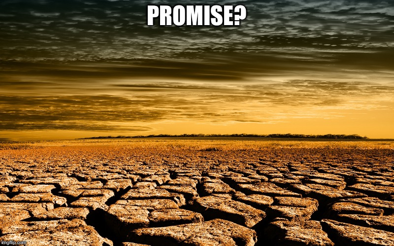 Drought | PROMISE? | image tagged in drought | made w/ Imgflip meme maker