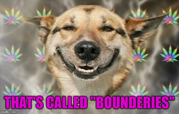 "THAT'S CALLED ""BOUNDERIES"" 