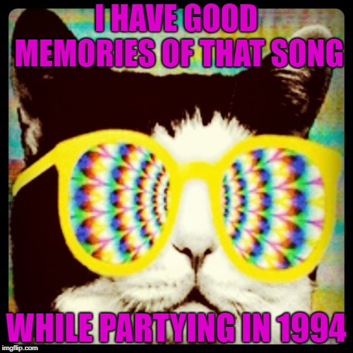 I HAVE GOOD MEMORIES OF THAT SONG WHILE PARTYING IN 1994 | made w/ Imgflip meme maker