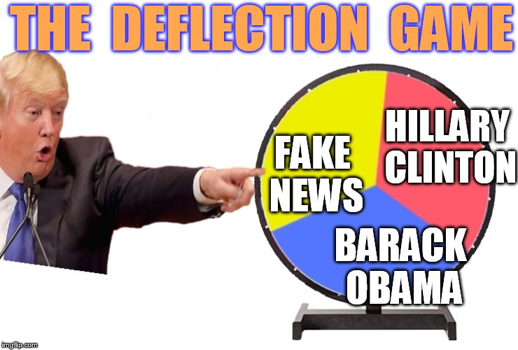 HILLARY CLINTON BARACK OBAMA FAKE NEWS THE  DEFLECTION  GAME | made w/ Imgflip meme maker