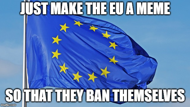 Europeans Fighting Back | JUST MAKE THE EU A MEME SO THAT THEY BAN THEMSELVES | image tagged in the european union | made w/ Imgflip meme maker