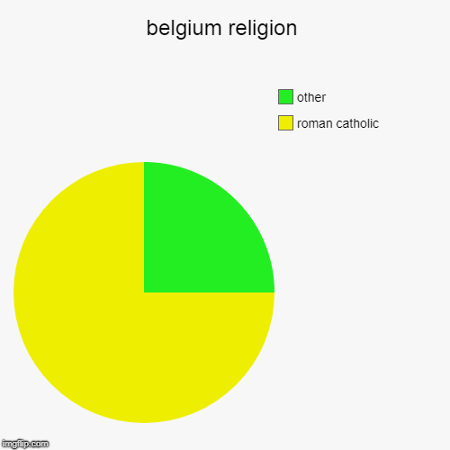belgium religion | roman catholic, other | image tagged in pie charts | made w/ Imgflip pie chart maker
