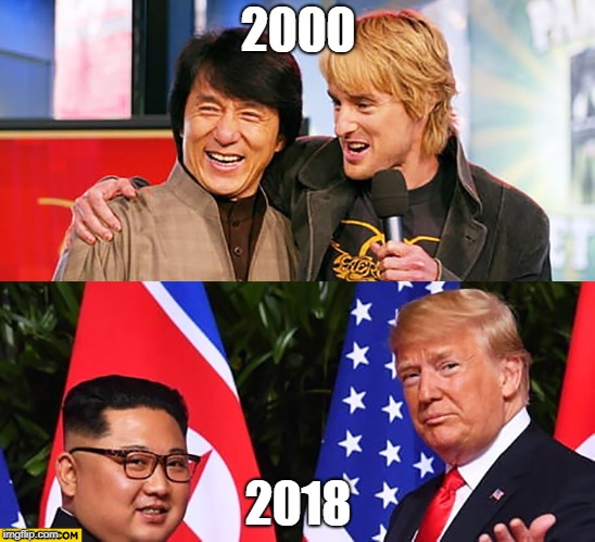 2000 2018 | image tagged in daonenugget's leaders | made w/ Imgflip meme maker