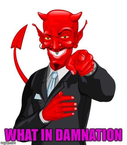 WHAT IN DAMNATION | made w/ Imgflip meme maker
