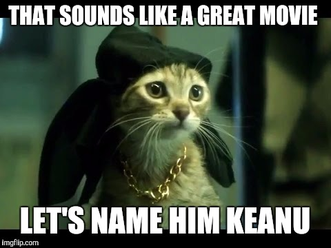THAT SOUNDS LIKE A GREAT MOVIE LET'S NAME HIM KEANU | made w/ Imgflip meme maker