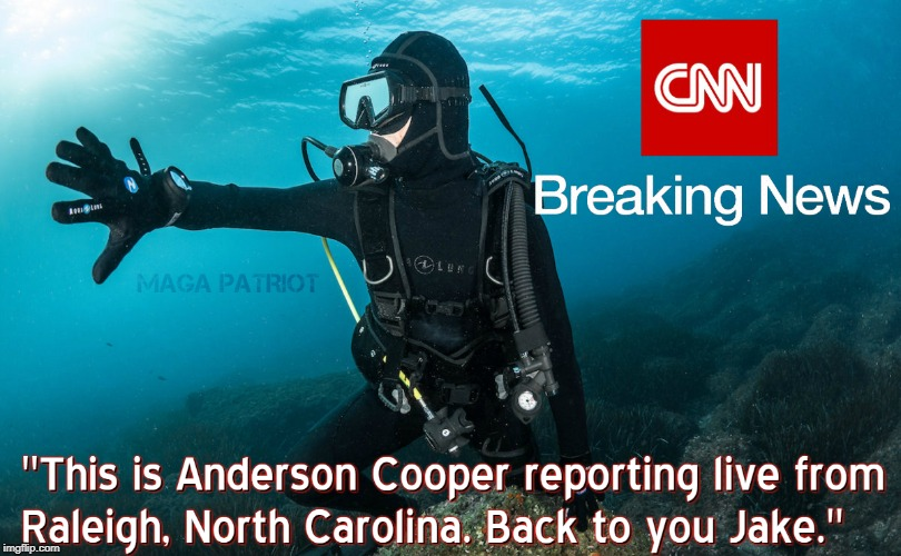CNN Hurricane Florence #FakeNews | image tagged in hurricane florence,cnn fake news,anderson cooper,funny memes | made w/ Imgflip meme maker