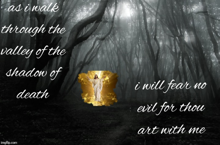 I will fear no evil | image tagged in catholic church,holy spirit,priest,evil,death,heaven | made w/ Imgflip meme maker