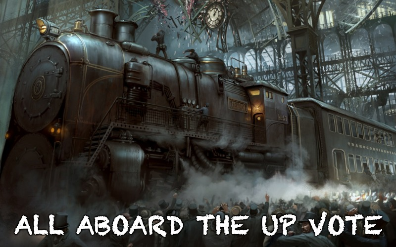 Upvote Express | ALL ABOARD THE UP VOTE | made w/ Imgflip meme maker