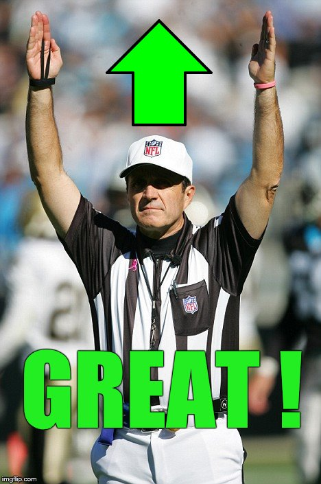 TOUCHDOWN! | GREAT ! | image tagged in touchdown | made w/ Imgflip meme maker