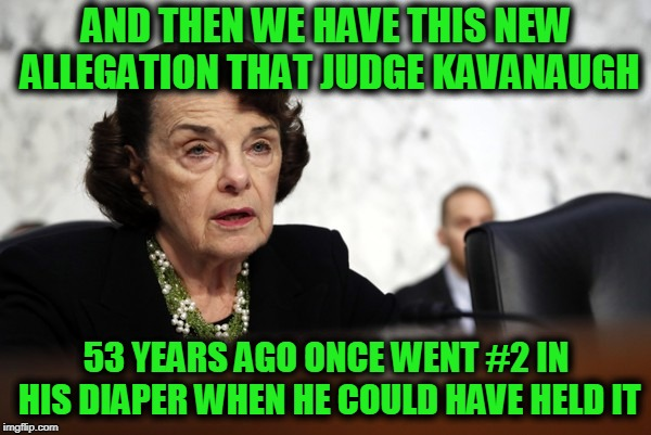 When Do We Draw The Line? | AND THEN WE HAVE THIS NEW ALLEGATION THAT JUDGE KAVANAUGH 53 YEARS AGO ONCE WENT #2 IN HIS DIAPER WHEN HE COULD HAVE HELD IT | image tagged in memes,funny,funny memes,mxm | made w/ Imgflip meme maker