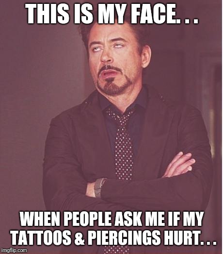"""Did those hurt?"". . . 
