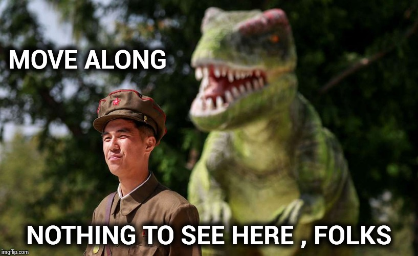 Help Wanted : Security Guard at Jurassic Park | MOVE ALONG NOTHING TO SEE HERE , FOLKS | image tagged in dinosaurs,jurassic park t rex,danger,you're,lunch,awareness | made w/ Imgflip meme maker
