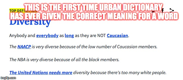 "Yup, that's basically what ""diversity"" means nowadays 
