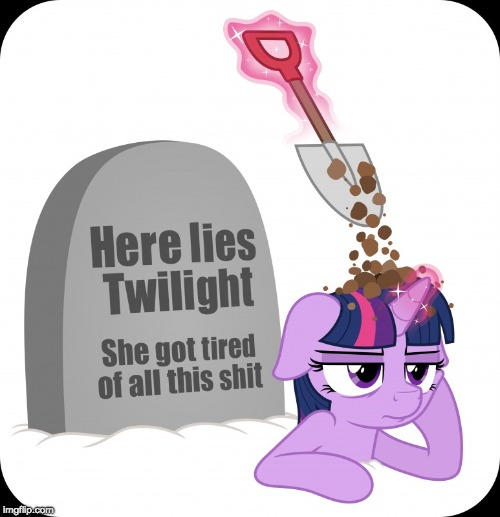 image tagged in memes,my little pony,twilight sparkle,buried alive | made w/ Imgflip meme maker