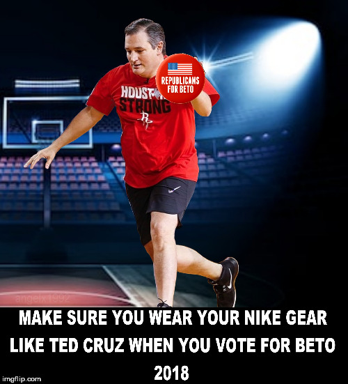 image tagged in nike,ted cruz,vote,texas,senate,nike swoosh | made w/ Imgflip meme maker