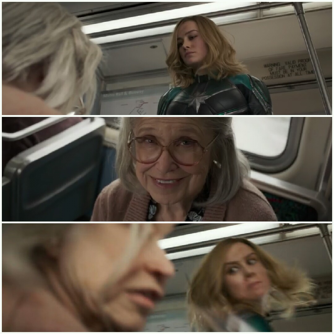 captain marvel punch old lady blank template - imgflip