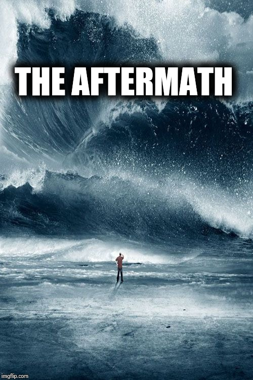 Tidal Wave | THE AFTERMATH | image tagged in tidal wave | made w/ Imgflip meme maker