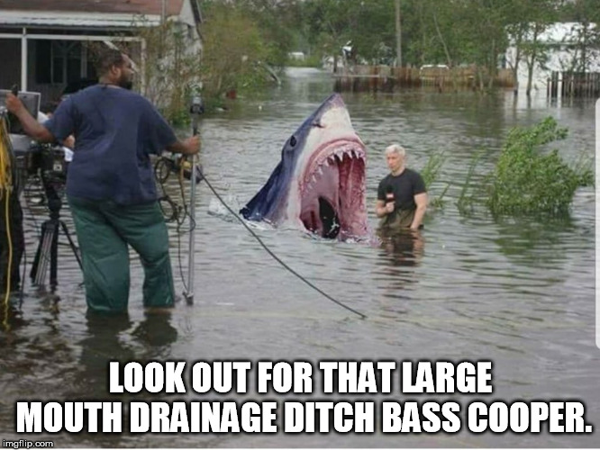LOOK OUT FOR THAT LARGE MOUTH DRAINAGE DITCH BASS COOPER. | image tagged in cnn | made w/ Imgflip meme maker