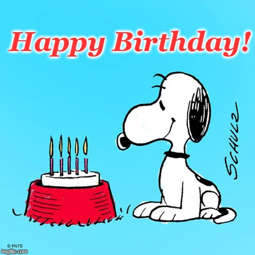 Image Tagged In Snoopy Birthdaybirthday Cakecandlessnoopyhappy
