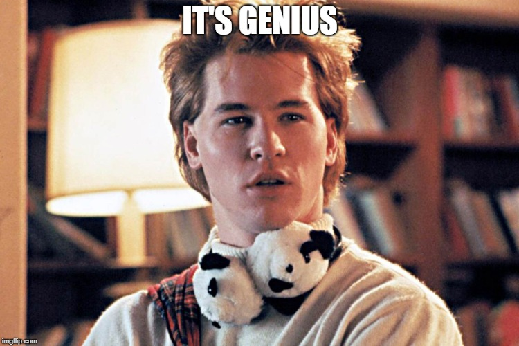 genius | IT'S GENIUS | image tagged in genius | made w/ Imgflip meme maker