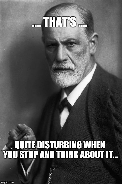 .... THAT'S .... QUITE DISTURBING WHEN YOU STOP AND THINK ABOUT IT... | image tagged in memes,sigmund freud | made w/ Imgflip meme maker