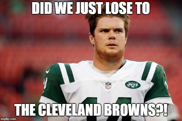 Confused Darnold | DID WE JUST LOSE TO THE CLEVELAND BROWNS?! | image tagged in nfl memes,nfl,nfl meme,nfl football,memes,confused | made w/ Imgflip meme maker