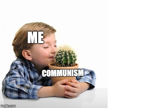 The real temptation | ME COMMUNISM | image tagged in communism,me,cactus,funny,meme | made w/ Imgflip meme maker
