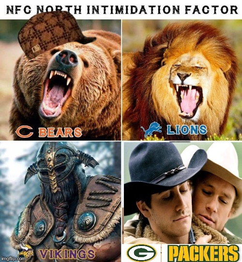 image tagged in football,detroit lions,vikings,chicago bears | made w/ Imgflip meme maker
