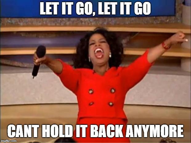 Oprah You Get A | LET IT GO, LET IT GO CANT HOLD IT BACK ANYMORE | image tagged in memes,oprah you get a | made w/ Imgflip meme maker