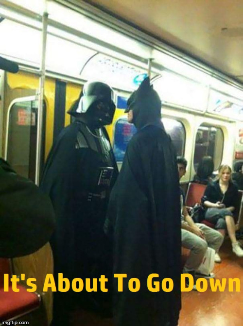 image tagged in darth vader,batman | made w/ Imgflip meme maker