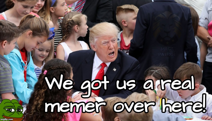 Little Memer | #MemeArmy | image tagged in memers,donald trump,pepe the frog,funny memes | made w/ Imgflip meme maker