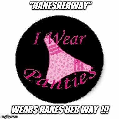 "It's imgflip.com search the username day...  Meme your favorites today !! | ""HANESHERWAY"" WEARS HANES HER WAY  !!! 