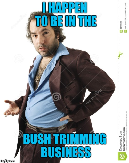 I HAPPEN TO BE IN THE BUSH TRIMMING BUSINESS | made w/ Imgflip meme maker