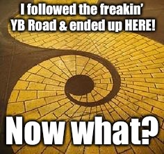 It's all about direction & perspective, eh? | . | image tagged in memes,wizzard of oz,yellow brick road,follow,starting point,wrong way | made w/ Imgflip meme maker