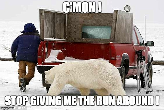 C'MON ! STOP GIVING ME THE RUN AROUND ! | made w/ Imgflip meme maker