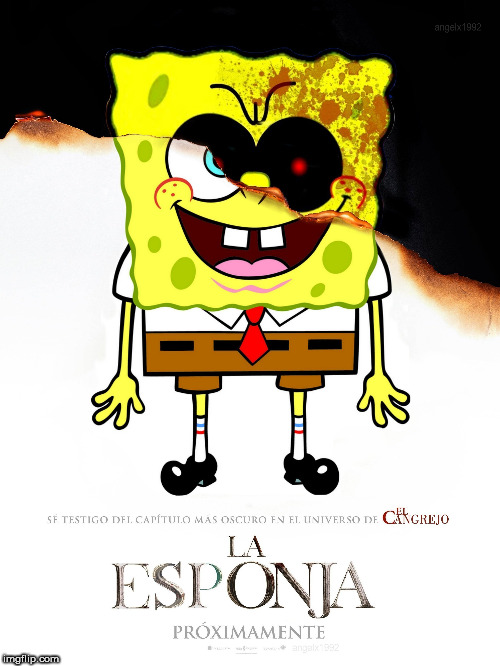 image tagged in spongebob,spongebob squarepants,nun,spongebob meme,horror movie,movies | made w/ Imgflip meme maker