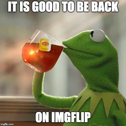 whats new? | IT IS GOOD TO BE BACK ON IMGFLIP | image tagged in memes,but thats none of my business,kermit the frog | made w/ Imgflip meme maker