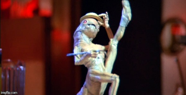 Spaceballs Dancing Alien | image tagged in spaceballs dancing alien | made w/ Imgflip meme maker