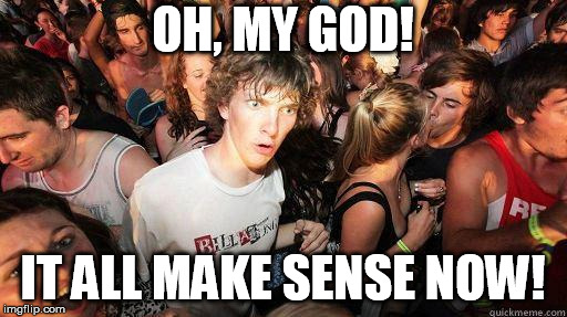 Sudden Realization | OH, MY GOD! IT ALL MAKE SENSE NOW! | image tagged in sudden realization | made w/ Imgflip meme maker